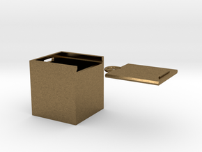 """Box for small """"SOMA cube"""" (please see the product) in Natural Bronze"""