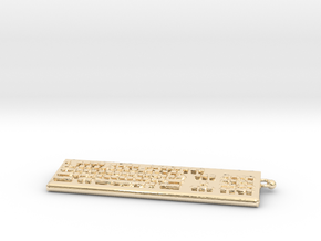 Keybord Keychain in 14K Yellow Gold