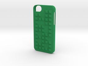 Case With Pyramids-random in Green Processed Versatile Plastic