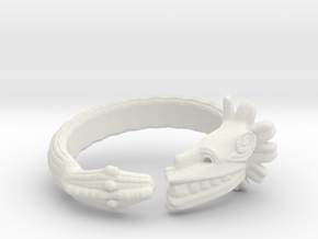 Anillo Quetzalcoatl in White Natural Versatile Plastic