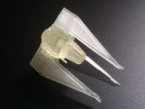 TIE Phantom (Cloaked) 1/270  in Smooth Fine Detail Plastic