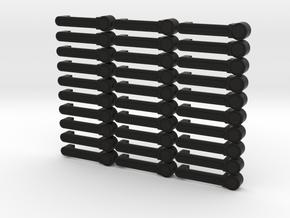 Axial JK Rubicon Door Handle **Set of 30** in Black Natural Versatile Plastic