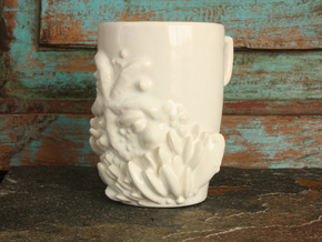 Under the Boardwalk Mermaid Mug in Gloss White Porcelain