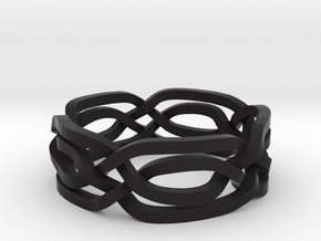 Celtic Eyes ring in Black Natural Versatile Plastic