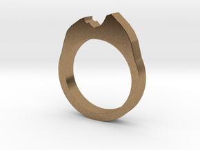 Ring Watzmann in Natural Brass