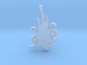 Lotus Bloom Charm in Smooth Fine Detail Plastic