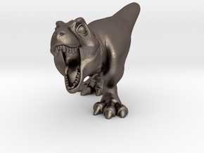 Trex Chubbie SolidSMALL 7 in Polished Bronzed Silver Steel