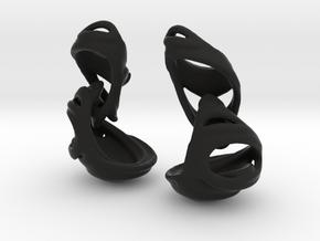 Julia's Basket Earrings in Black Natural Versatile Plastic