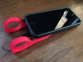 iPhone 6 Handlebar Mount for Quad Lock Case in Red Processed Versatile Plastic