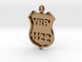 Police Badge Pendant - DO NOT ORDER HERE in Polished Brass