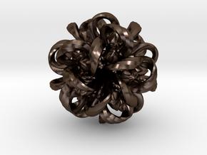 Medusa Micro in Polished Bronze Steel