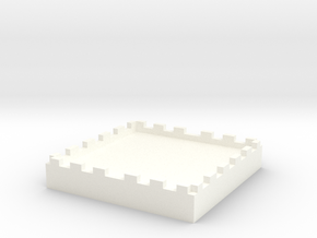 1in Miniature Base for D&D, Warhammer, Pathfinder in White Processed Versatile Plastic