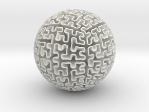 Hilbert Sphere in White Natural Versatile Plastic