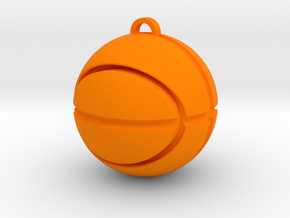 Basketball Pendant in Orange Processed Versatile Plastic