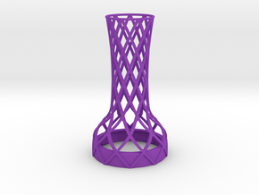 Tower Vase for jar size:58 (4 leads) in Purple Processed Versatile Plastic