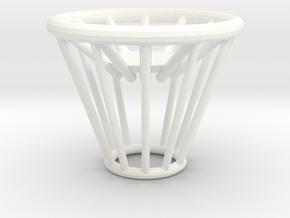 Tea Light Candle Holder in White Processed Versatile Plastic