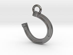 Lucky Horseshoe in Polished Nickel Steel