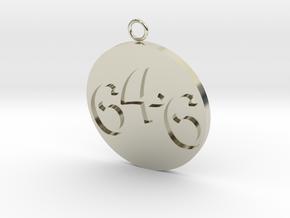646 Pendant in 14k White Gold
