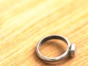 Cristall Ring4 6 size in Premium Silver