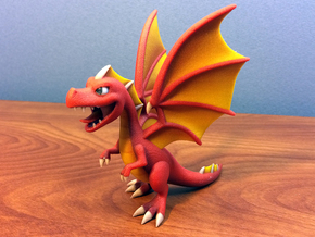 Dragonvale Adult Fire Dragon in Full Color Sandstone