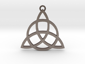 Triquetra in Polished Bronzed Silver Steel