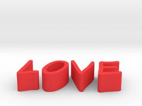 Love in Red Processed Versatile Plastic