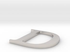 Letter-D in Platinum