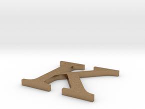 Letter-K in Natural Brass