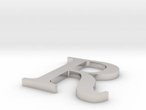 Letter-R in Platinum