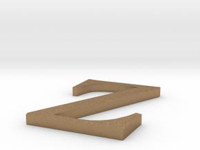 Letter-Z in Natural Brass