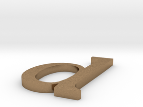 letter- d in Natural Brass