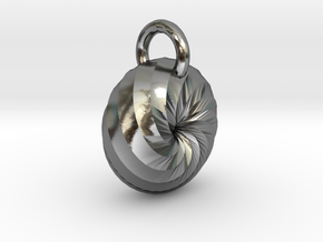 Spiral Pendant in Polished Silver