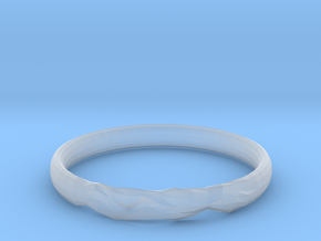 Shadow Ring US Size 6 UK Size M in Smooth Fine Detail Plastic