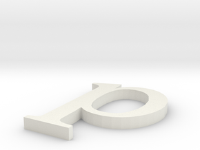 Letter- p in White Natural Versatile Plastic