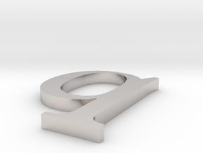 Letter- q in Platinum