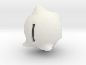 Piggy Wiggy in White Natural Versatile Plastic