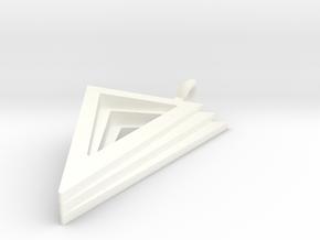 Layers Pendant in White Processed Versatile Plastic