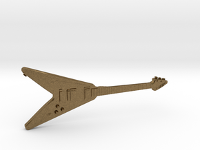 Gibson Flying V Guitar 1:18 in Raw Bronze