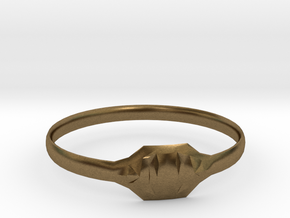 Triss Ring US Size 6 UK Size R in Natural Bronze