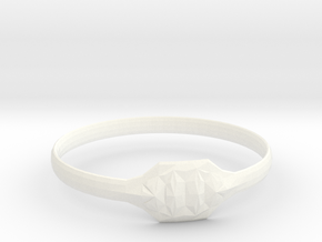 Triss Ring US Size 6 UK Size R in White Processed Versatile Plastic