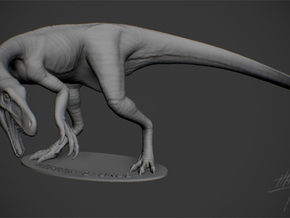 Herrerasaurus 1/12 with base in White Strong & Flexible