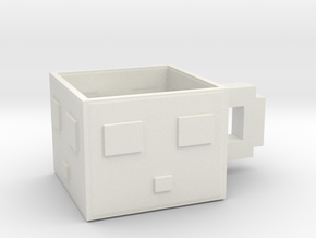 Minecraft Slime Teacup 5.5 Cm in White Natural Versatile Plastic