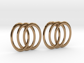 Three Rings Earrings in Polished Brass