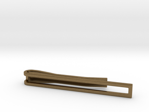 Minimalist Tie Bar in Natural Bronze