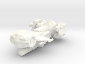 Ares Class Frigate in White Processed Versatile Plastic