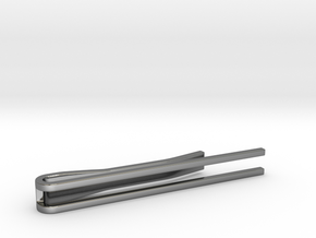 Minimalist Tie Bar - Parallels in Fine Detail Polished Silver