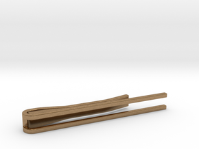 Minimalist Tie Bar - Parallels in Natural Brass