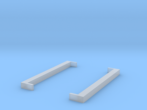 Square Brackets - [ ] in Smooth Fine Detail Plastic