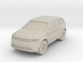"SUV at 1""=16' Scale in Natural Sandstone"