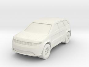 "SUV at 1""=16' Scale in White Natural Versatile Plastic"